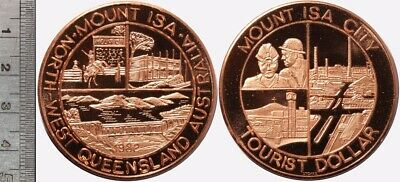 Australia: Mount ISA, Queensland Tourist Dollar, 45mm diameter