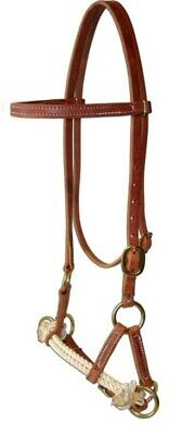 Amish USA Horse Tack Hermann Oak Leather Double Rope Side Pull 975H4000