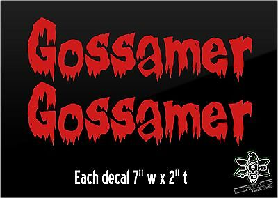 2 CASKET BASKET Decal Funny Hearse TOMBSTONE Funeral Coach Coffin sticker Lot