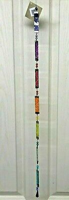 Hanging Beautiful Chakra Metal & Hand Painted Glass Sun Catchers From Bali