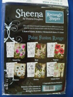 Sheena Douglas Die Cut Mount Board to use with Paint Fusion Stamps (D120)