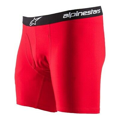 New ALPINESTARS COTTON BRIEF Red Underwear Boxer Short Motocross Enduro S M L XL