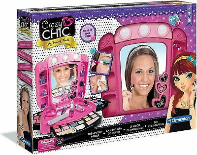 Crazy Chic Make Up Mirror Led Toy Set new For Girls Aged 6+ Childrens Xmas Gift