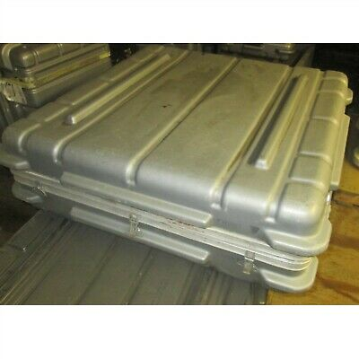 38x38x13 Thermodyne Hard Case Shock Stop Hinged Lid Plastic Military Silver P