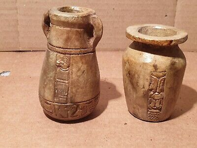 Scarce Antique Ancient Egyptian 2 Jars for food water milk 1670BC