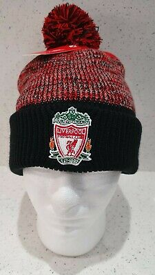 Liverpool Official Black & Red Crested Bobble Hat
