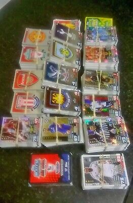 Job Lot Approx 1180 Topps Match Attax Football Cards Inc Gold, Silver, Tactic