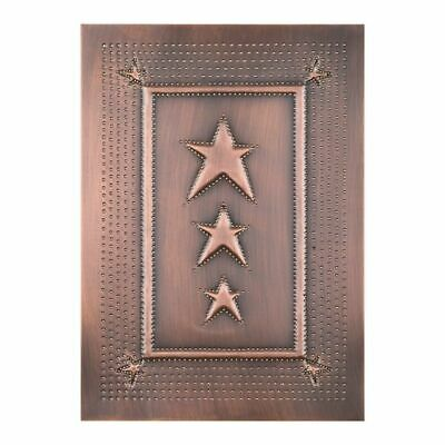 Embossed Star Cabinet Panel Insert in Solid Copper