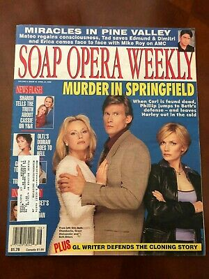 SOAP OPERA WEEKLY - April 21, 1998 [Vol. 9, Issue 16] GUIDING LIGHT Phillip Beth