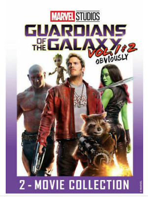 Guardians of the Galaxy 1 and 2 Set Bundle DVD Marvel Movies New