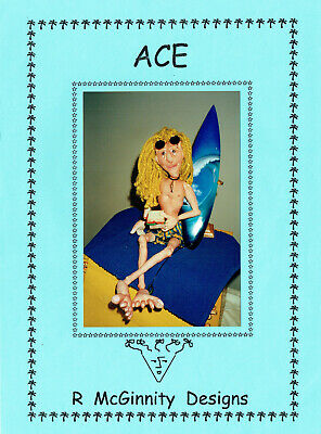WHIMSICAL CLOTH DOLLS 'ACE' SURFER DOLL SEWING PATTERN, R McGINNITY DESIGNS