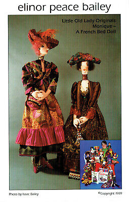 WHIMSICAL CLOTH DOLL 'MONIQUE a FRENCH LADY' SEWING PATTERN, ELINOR PEACE BAILEY