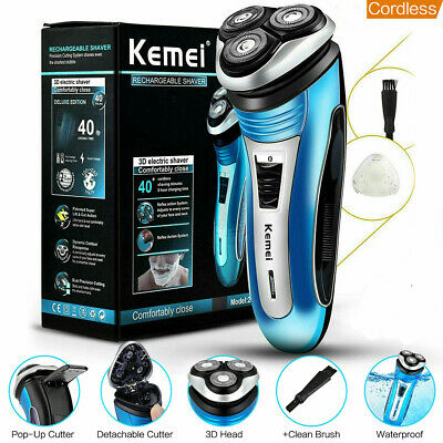 Mens Electric Beard Shaver Rotary Razor Hair Trimmer Floating Head Rechargeable*