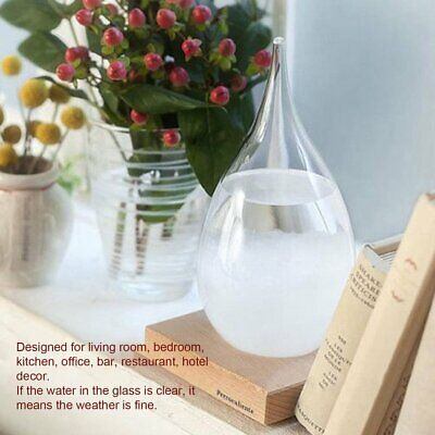 Mini Desktop Droplet Storm Glass Bottle Weather Forecast Predictor Home Decor BH