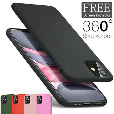 Silicone Case For iPhone 11 Pro XS Max X XR 5 6 7 8 Plus Liquid Shockproof Cover