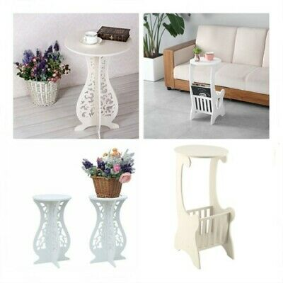 White Small Telephone Table Plant Stand Bedside Hall Lamp Sofa Side Coffee Table