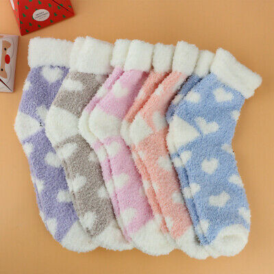 6 Pairs Ladies Soft Fluffy Lounge Cosy Bed Socks Winter Warm Christmas Gift Bags