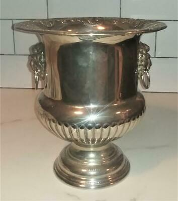 Impressive Antique Silver Plated Gadrooned Fluted Champagne Cooler C 1880+