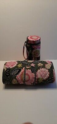 Vera Bradley Baby Infant Diaper Changing Pad Clutch & bottle Olivia Pink Pattern