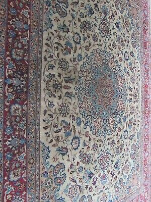 ANTIQUE A FANTASTIC OLD HANDMADE TRADITIONAL ORIENTAL CARPET (385 x 295 cm)