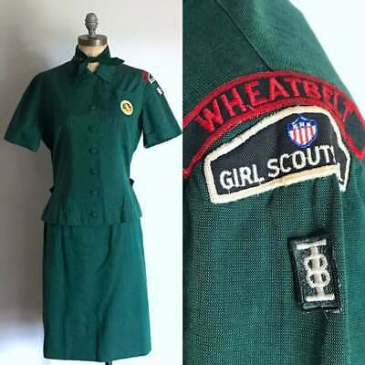 NUMBER FIVE #5 Troop Numeral Junior Cadette NEW Girl Scout GREEN UNIFORM PATCH