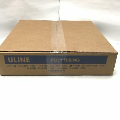 "Uline S-11127 6 Mil Heavy Duty Black Poly Tubing Roll 2"" Wide By 1,000' Long"