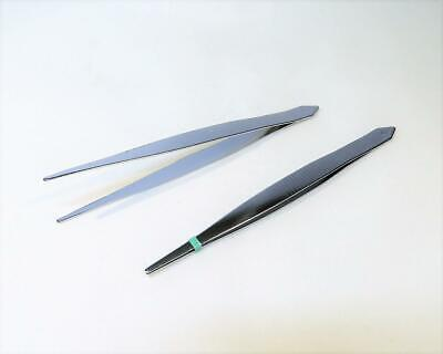 1 PAIR OF FINE POINT CHROMED TWEEZERS - 12cms APPROX.......1