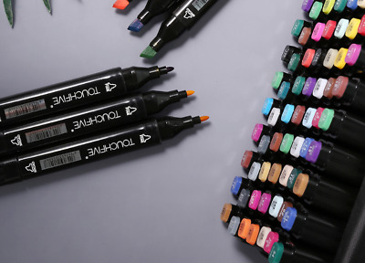 Set Art Markers Pen Tip Pens Colors Paint Dual Brush Marker Color Oily Alcohol