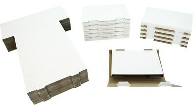 (50) White Sturdy Single DVD Shipping Boxes Mailers Retail Video Games #DVBC01
