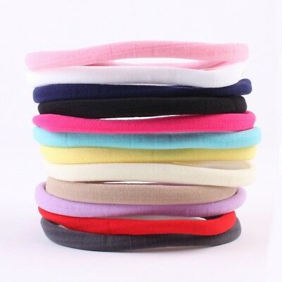 10PCS Baby Girl Headbands Elastic Nylon Kids Women Hair Bands Rope sdRQv