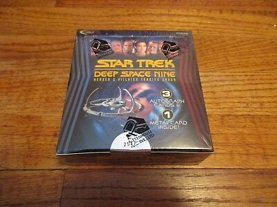 Star Trek Deep Space Nine Heroes & Villains Factory Sealed BOX and DS9 Promo P1