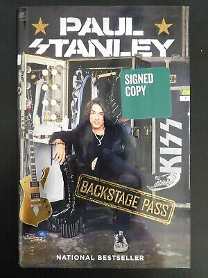 Paul Stanley KISS Signed Backstage Pass 1st Edition Hardcover Book