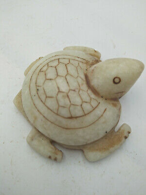 Exquisite Chinese old carved jade turtle Q070