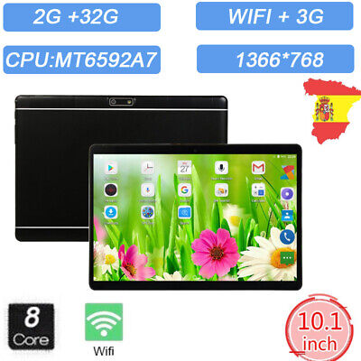 """10.1""""Tablet Android 7.0 Bluetooth PC RAM 2G ROM 32G Dual Card GPS Phone Pad ES"""