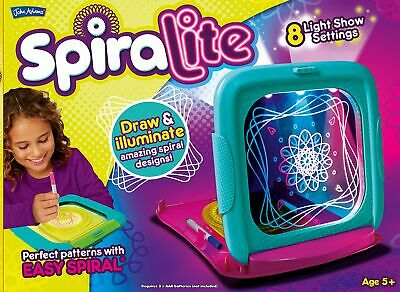 Spiralite Light Up Tablet Kids Glow Pad Draw Doodle Board Art PlaySet New