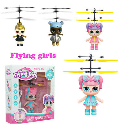 Flying Fairy Princess Girls Surprise Doll Induction Control Xmas Kids Toys Gift