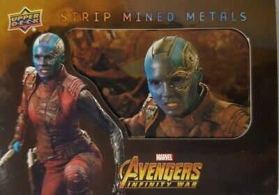 Marvel Avengers Infinity War Strip Mined Metals Card SMM21 NEBULA 2018