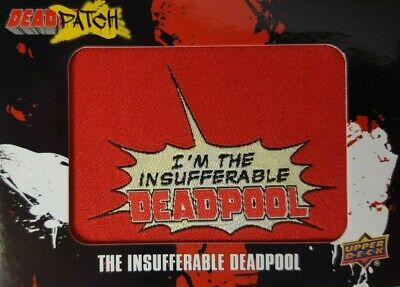 2019 Upper Deck Deadpool Trading Card DEADPATCH DP 30 INSUFFERABLE DEADPOOL sp