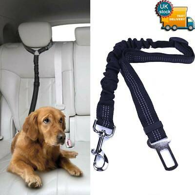 Anti-Shock Pet Dog Car Seat Belt Clip Bungee Lead Vehicle Travel Safety Harness