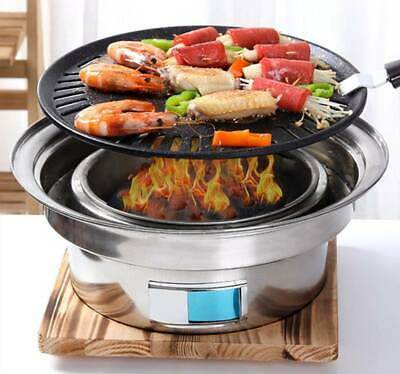 Outdoors Charcoal Barbecue Stove Camping Picnic Smokeless BBQ Grill Fire Pit Set