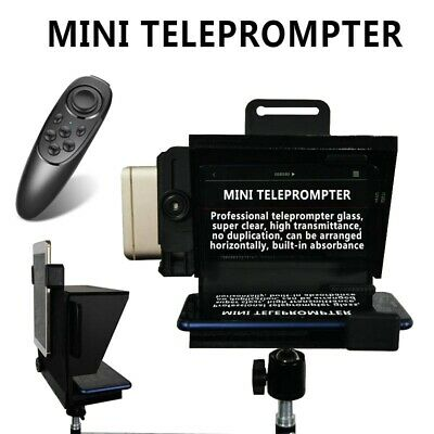 Black Mini Teleprompter for All IPhone 7 8 9 X Android Phone Smartphone 1PC