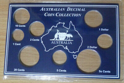 AUSTRALIAN Empty DECIMAL COIN COLLECTION Soft Plastic WALLET 1c - $2 Coins