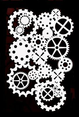 high detail airbrush stencil cogs FREE UK POSTAGE