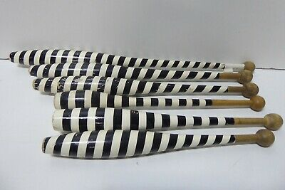 6 Assorted Vintage Black White Callisthetics Batons Juggling