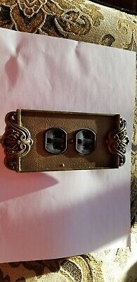 Electrical  Wall Outlet with plates brass