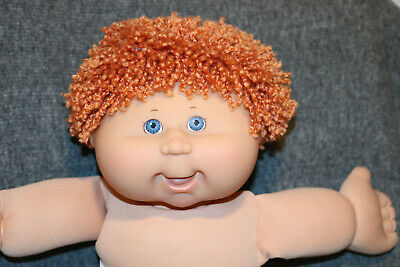 Cabbage Patch Kids Play Along PA-5 Tangerine/Blue Crimped Shag Boy Doll~ CUTE!