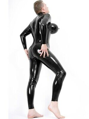 Latex Rubber Gummi Catsuit Chest Inflated Cosplay Female Sexy Customized 0.4mm