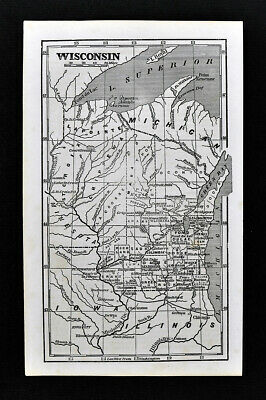 1855 Charles Savage Map Wisconsin Madison Milwaukee Green Bay Dales WI Antique