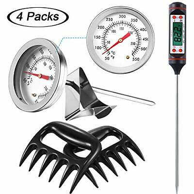 4 Sets Deep Fry Meat Thermometer Long Probe Digital Cooking Thermometer Candy