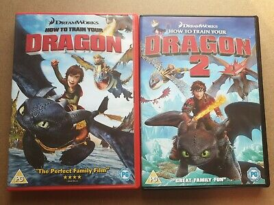 How To Train Your Dragon 1 & 2 DVD lot.